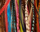 3 Long Loose Feather Hair Extensions - You Choose Colors - DIY - Loose Feathers - Can be Bonded Upon Request
