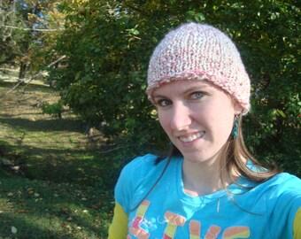 Pink Fuzzy Knit Hat