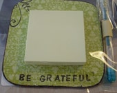 That Little Something Gift 'Be Grateful' Magnetic Sticky Note holder with pen