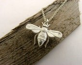 Queen Bee - Solid 925 Sterling Silver Pendant - Hand Made