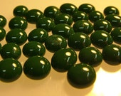 Kiln Formed Opaque Green Glass Bubbles 45 Pieces (B278)