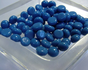Kiln Formed Opaque Blue Glass Bubbles 70 Pieces (B256)