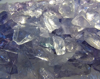 Lavender Glass Transparent Chips Recycled 1/2 pound (C104)