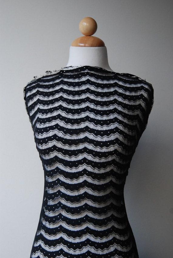 """S A L E : Almost Non-stretch, Black color nylon lace, soft , approx 7 yards at 75"""" wide"""