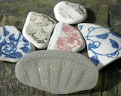 Scottish sea pottery, glass for jewelry