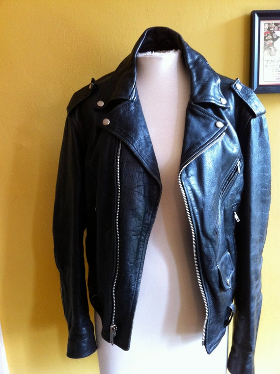Vintage Leather Motorcylce Jacket by Metaco