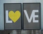 Love No.1  - Set of 2  Poster Prints - 11x17