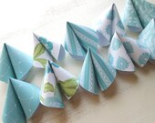 Fortune Cookie Bridal Shower Game in Aqua Set of 10 - HandmadeByHeather4U