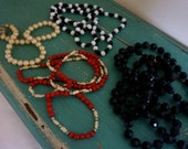 Vintage Beaded Necklaces - Lot of 4 with Beautiful Variety of Glass and Plastic Beads