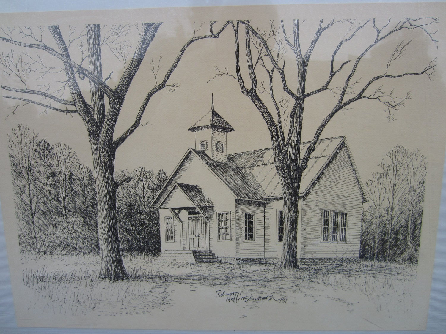Drawing by Robert Hollingsworth The Old School House