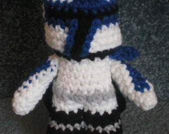 Made to order, Hand crocheted Commander REX Clone Trooper Star Wars Amigurumi Doll