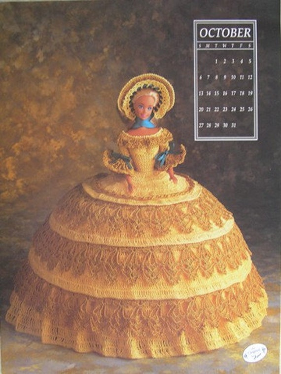 Annie's Attic Crochet Bed Doll Pattern October 1991 Antebellum Barbie Doll Dress