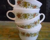Vintage Set of 4 Pyrex Tea Cups