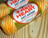 """Vintage Red Heart """"Shaded Yellows"""" Cotton Yarn"""