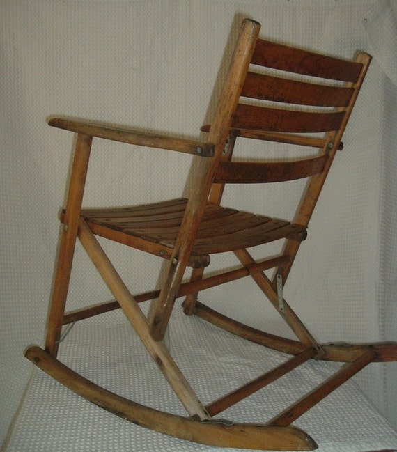 Vintage Folding Chair Vintage Folding Rocking by VintageGlobal