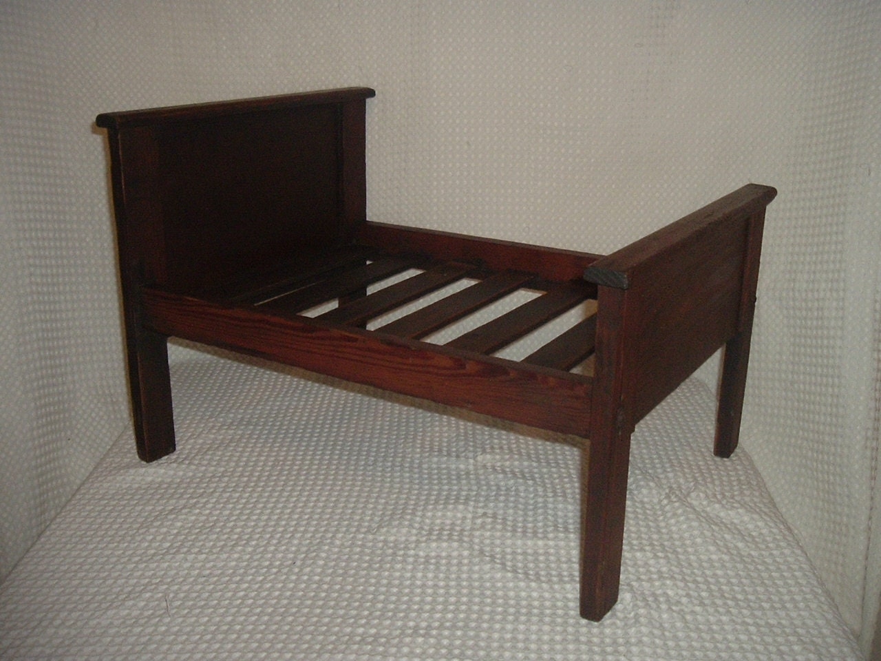 Amazing photo of Antique Wooden Baby Doll Bed or Pet Bed by VintageGlobal on Etsy with #2C1D17 color and 1280x960 pixels