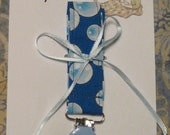 """Pacifier Clip Boy Bib """"Rubber Ducky in the Tub"""" FREE GIFT WRAP"""