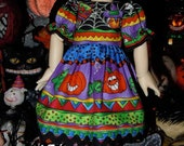 Doll Halloween Dress for Little Fee and Yo-SD size BJDs.