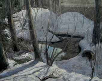 Lucy's Pond in Snow