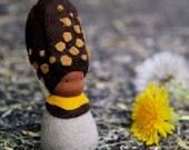 Handmade felt doll, Morell mushroom, Creative playthings, Imaginative play, Ethnic doll, Felt toy, Organic toy - Morella