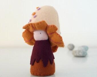 Soft Mushroom Waldorf Felt toy, Organic, Eco toy - Neda