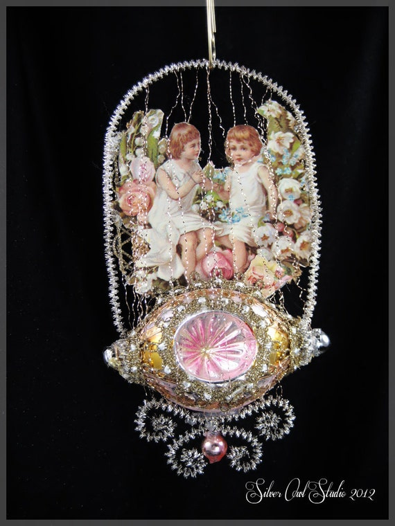 Items similar to Victorian Christmas Ornament - Swinging