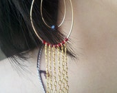 theRed. 14k gold filled dangle earrings with Swarovski crystals in Siam