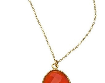 Semi-Precious Petite Pendant Necklace