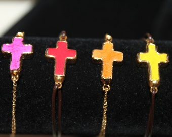 Colored Cross Bracelet