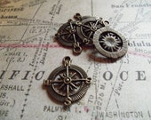 Bronze Compass Charm