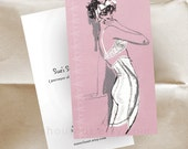Business Cards - VIntage Lingerie - Fashion Illustration - Sixties - 250 Cards