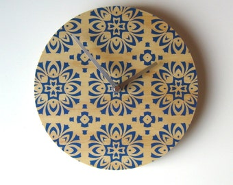 Objectify Blue Tile Wall Clock