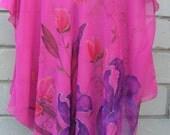 chiffon tunics-flowers