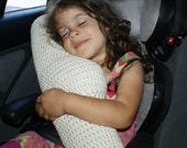 Crochet Pattern-- Seat Belt Travel Pillow --Crochet Pattern