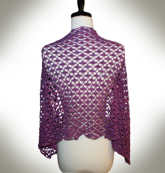 Crochet Lace Weight Shawl Pattern : Crochet Pattern-- Portola Lace Shawl --Crochet Pattern