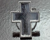 Ring Base, 25x33mm Cross Shaped, adjustable Ring, Silver, 2 ea
