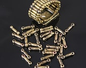Ring Stretch Band Ring Vintage Brass Beads, 2 gross, J729AG