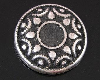 Ring Topper Sundial, antique silver, 6 pieces