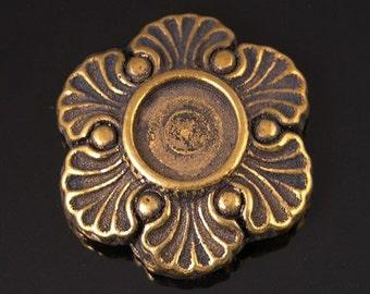 Ring Topper Antique Rose, antique gold, 6 pieces