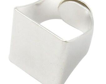 Ring Shank, 6 Adjustable Ring Base Platforms, Silver or Gun Metal finish