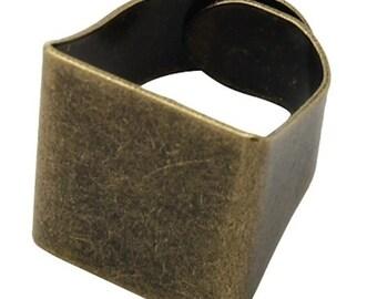 Ring Shank, 6 Adjustable Ring Base Platforms, Vintage Bronze or Copper