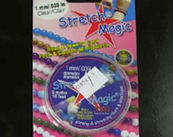 Stretch Magic Clear Cord, 1mm, 16 footr Roll, ea, C1050/1
