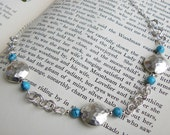 Sterling Silver & Turquoise Chainmaille and Beaded Necklace