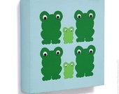 Canvas for Children Frogs with Wobbly Eyes