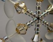 Swarovski Crystal Snowflake Ornament in Golden Shadow