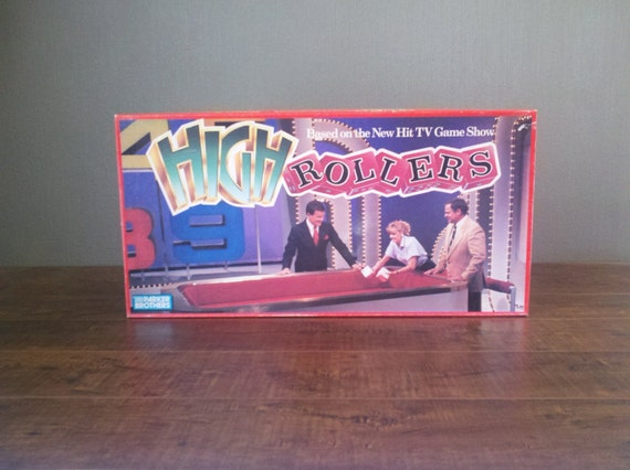 vtg 1988 parker brothers high rollers board game classic tv. Black Bedroom Furniture Sets. Home Design Ideas