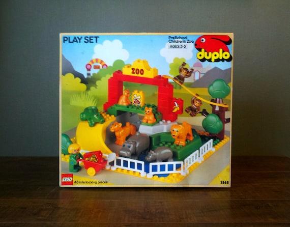 reserved for Blackmarigold 1990 Lego Duplo PreSchool Children's Zoo Animal Play Set. Lions Tigers Hippo Alligator.