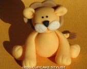 2-inch 3D fondant lion cake and cupcake topper by Cupcake Stylist