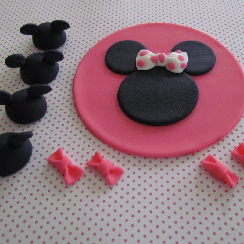 Minnie Mouse Cake Topper Images : Party Set MINNIE MOUSE Cake and Cupcake Toppers by Cupcake