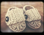 Little Mister Loafers - Crocheted Baby Booties, You choose Size and Color